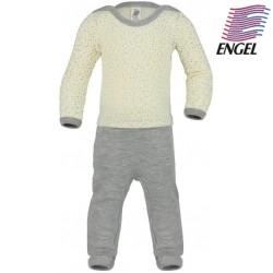 ENGEL - Bio Baby Strampler mit Punkten, Wolle/Seide
