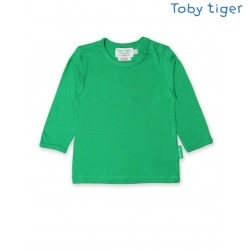 Toby tiger - Bio Baby Langarmshirt, grün