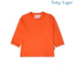 Toby tiger - Bio Baby Langarmshirt, orange