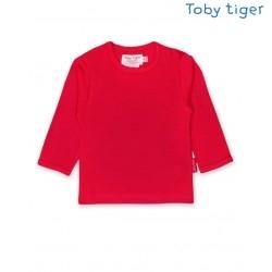 Toby tiger - Bio Baby Langarmshirt, rot