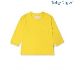 Toby tiger - Bio Baby Langarmshirt, gelb