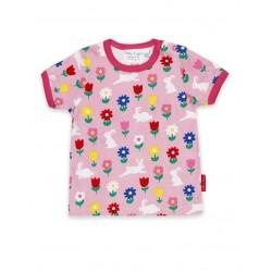 Toby tiger - Bio Kinder T-Shirt mit Hasen-Allover
