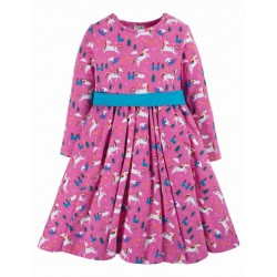 "frugi - Bio Kinder Jersey Kleid ""Party"" mit Einhorn-Allover"