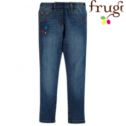 "frugi - Bio Kinder Jeggings ""Julie"" mit Sternen-Stickerei"