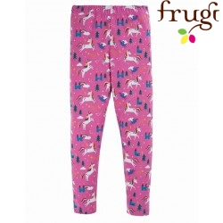 "frugi - Bio Kinder Leggings ""Libby"" mit Einhorn-Allover, rosa"
