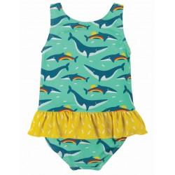 """frugi - Baby Badeanzug """"Little Coral"""" mit Wal-Motiv, UPF 50+"""