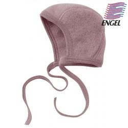 ENGEL - Bio Baby Fleece Mütze, Wolle, rosenholz