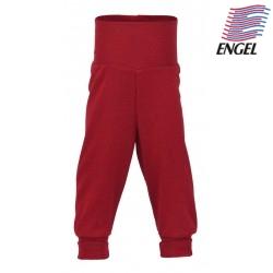 ENGEL - Bio Baby Hose mit Nabelbund, Wolle, rot