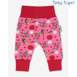 Toby tiger - Bio Baby Sweathose mit Rotkehlchen-Allover