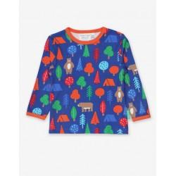 Toby tiger - Bio Baby Langarmshirt mit Bären-Allover