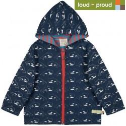 loud + proud - Bio Kinder Jacke mit Orca-Allover, wasserabweisend