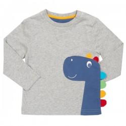 kite kids - Bio Baby Langarmshirt mit Dino-Applikation