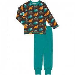 Maxomorra - Bio Kinder Schlafanzug mit Dino-Allover