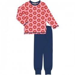 Maxomorra - Bio Kinder Schlafanzug mit Anemonen-Allover