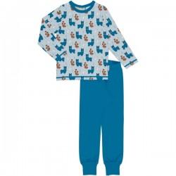 Maxomorra - Bio Kinder Schlafanzug mit Alpaka-Allover