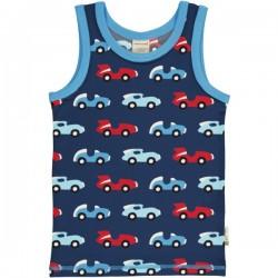 Maxomorra - Bio Kinder Unterhemd mit Rennauto-Allover