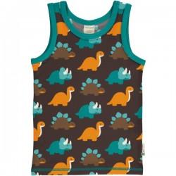 Maxomorra - Bio Kinder Unterhemd mit Dino-Allover