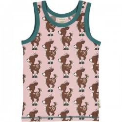 Maxomorra - Bio Kinder Unterhemd mit Reh-Allover