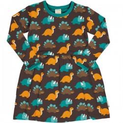Maxomorra - Bio Kinder Jersey Kleid mit Dino-Allover