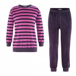 LIVING CRAFTS - Bio Kinder Nicki Schlafanzug langarm, lila