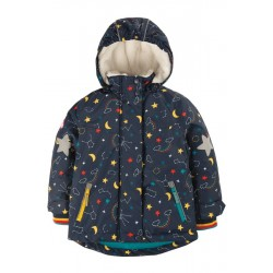 frugi - Kinder Skijacke mit Sternenhimmel-Allover
