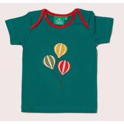Little Green Radicals - Bio Kinder T-Shirt mit Luftballon-Applikation