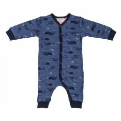 People Wear Organic - Bio Baby Strampler mit Wal-Allover