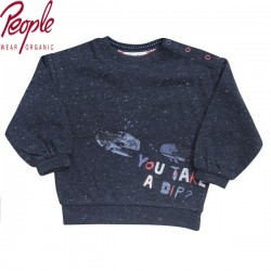 People Wear Organic - Bio Baby Sweatshirt mit Wal-Druck