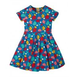 """frugi - Bio Kinder Jersey Kleid """"Spring"""" mit Lotusblumen-Allover"""