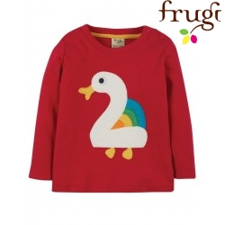 "frugi - Bio Baby Langarmshirt ""Magic Number"" mit Enten-Applikation"