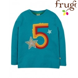 "frugi - Bio Baby Langarmshirt ""Magic Number"" mit Sternen-Applikation"