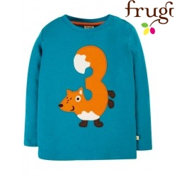 "frugi - Bio Baby Langarmshirt ""Magic Number"" mit Fuchs-Applikation"