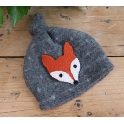 Diseno-C - Bio Baby Fleece Mütze mit Fuchs-Applikation