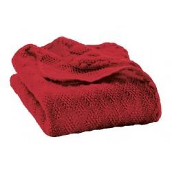 disana - Bio Baby Decke, Wolle, bordeaux 80x100 cm