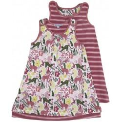 Enfant Terrible - Bio Kinder Jersey Wende Kleid mit Dschungel/Streifen-Motiv