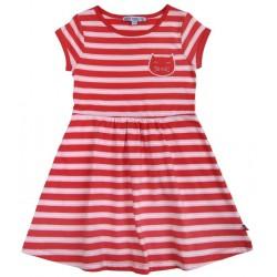 Enfant Terrible - Bio Kinder Jersey Kleid mit Katzen-Applikation, rot