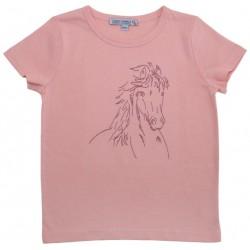 Enfant Terrible - Bio Kinder T-Shirt mit Pferde-Stickerei