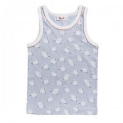 People Wear Organic - Bio Kinder Unterhemd mit Schwan-Allover