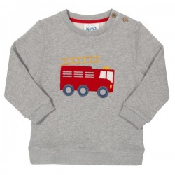 kite kids - Bio Kinder Sweatshirt mit Feuerwehr-Applikation