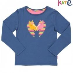 kite kids - Bio Kinder Langarmshirt mit Pony-Applikation