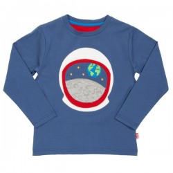 kite kids - Bio Kinder Langarmshirt mit Astronauten-Applikation