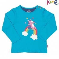 kite kids - Bio Kinder Langarmshirt mit Regenbogenpony-Druck