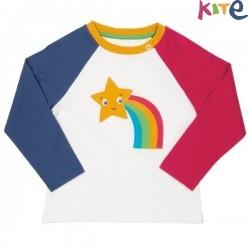 kite kids - Bio Kinder Langarmshirt mit Sternen-Applikation