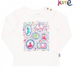 kite kids - Bio Kinder Langarmshirt mit Tier-Druck