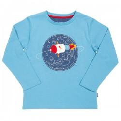 kite kids - Bio Kinder Langarmshirt mit Raketen-Applikation