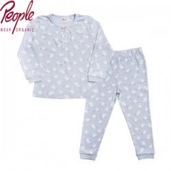 People Wear Organic - Bio Kinder Schlafanzug mit Schwan-Allover