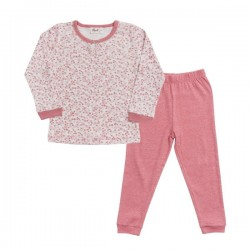 People Wear Organic - Bio Kinder Schlafanzug mit Blumen-Allover