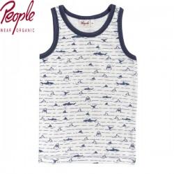 People Wear Organic - Bio Kinder Unterhemd mit Haiflossen-Allover