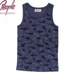 People Wear Organic - Bio Kinder Unterhemd mit Hai-Allover
