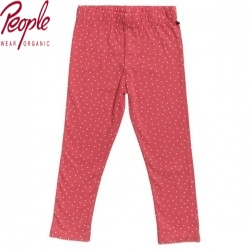 People Wear Organic - Bio Kinder Leggings mit Punkten, rot